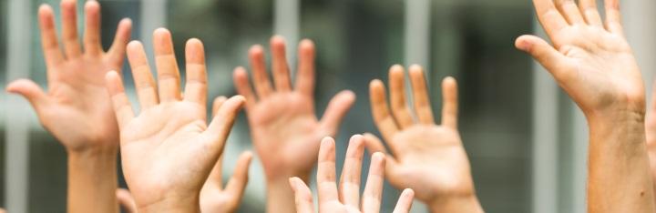 Banner Service und Dienstleistungen Hände breiter
